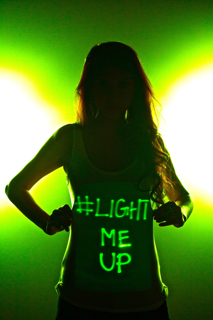 LUM Shirts Light Up With Whatever Your Mind Can Think